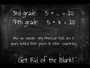 Get rid of the Blank